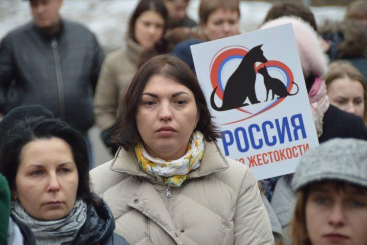 Всероссийский митинг за защиту животных прошел в Москве