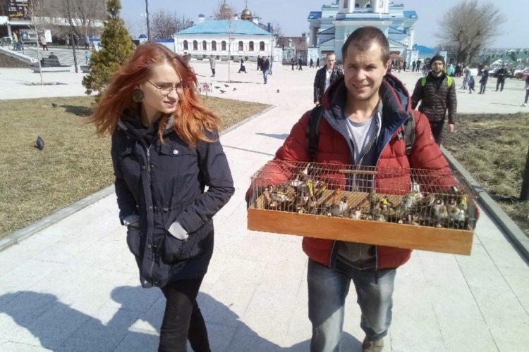Освобождение птиц на Благовещение в Воронеже — 07.04.2019